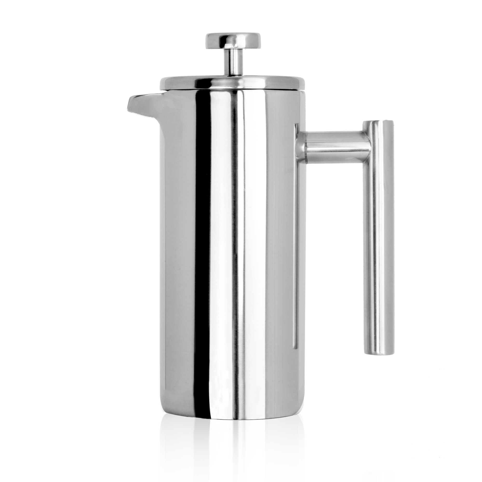 French-Press-Cafetiere-Steel-Coffee-Maker-FREE-Filters-amp-Spoons-M-amp-W miniatuur 5