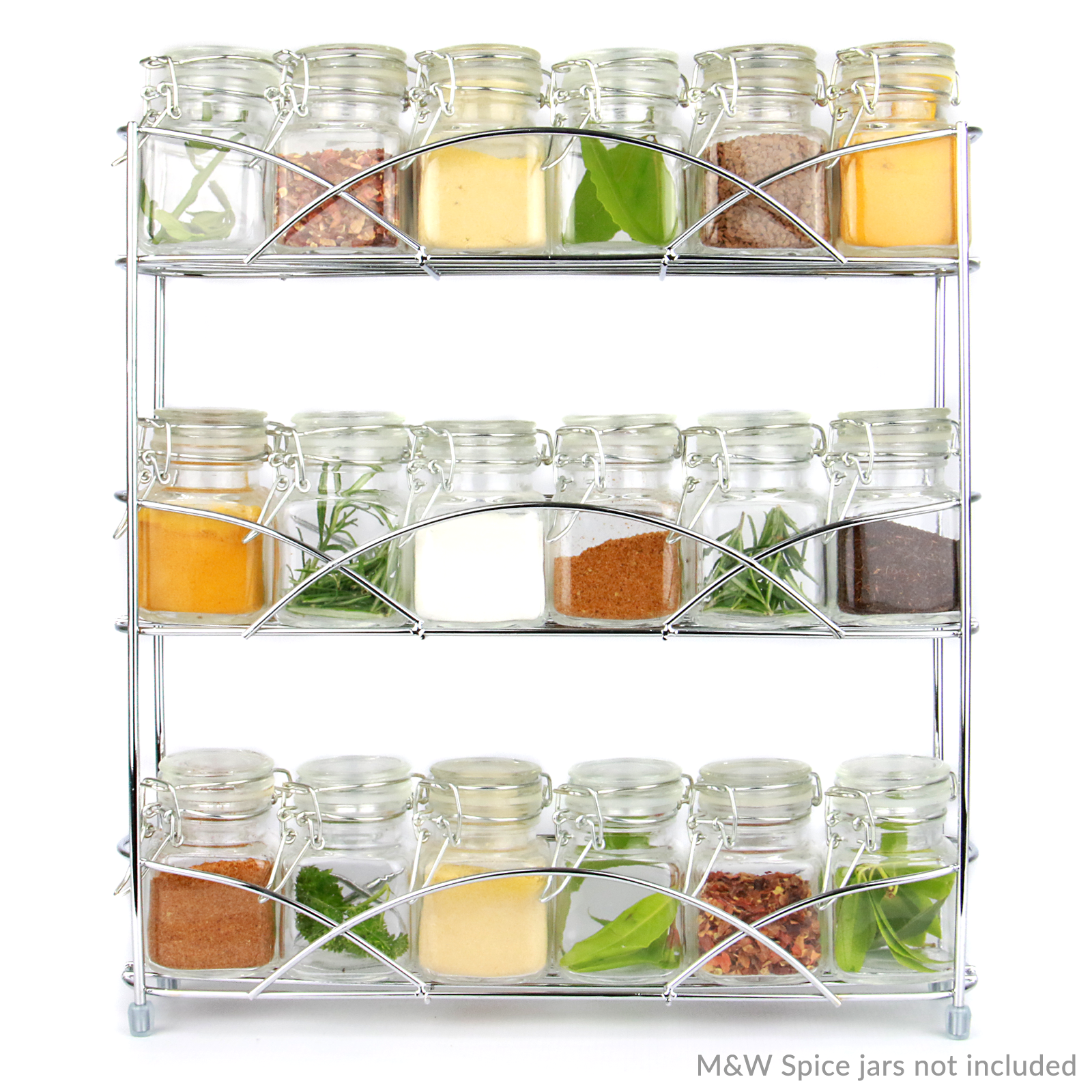 Free-Standing-3-Tier-Herb-amp-Spice-Rack-Non-slip-Universal-Fit-M-amp-W thumbnail 5