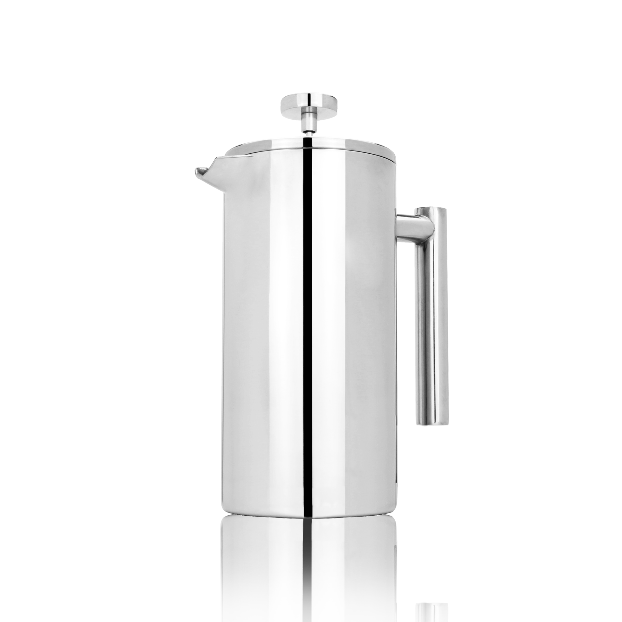 French-Press-Cafetiere-Steel-Coffee-Maker-FREE-Filters-amp-Spoons-M-amp-W miniatuur 3