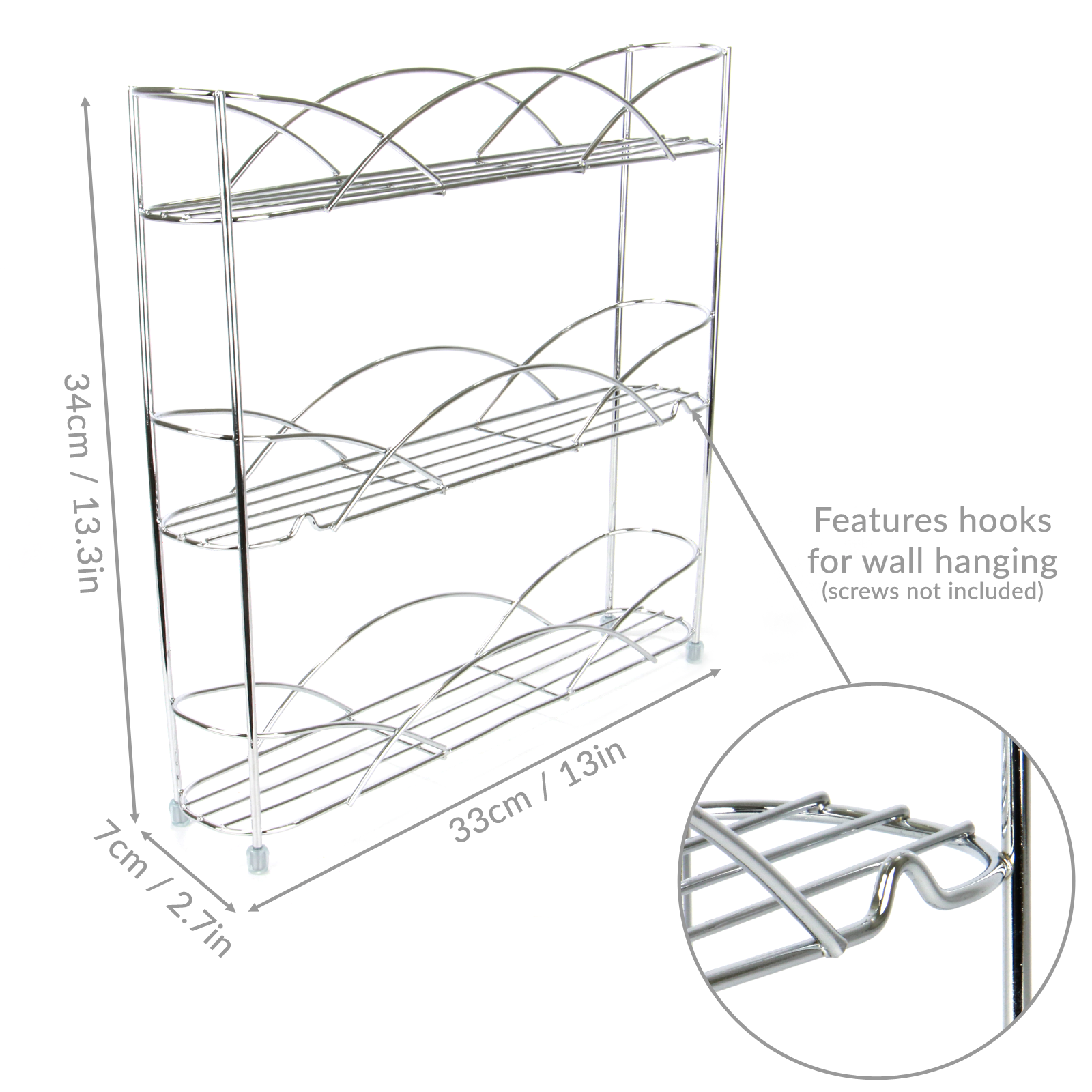 Free-Standing-3-Tier-Herb-amp-Spice-Rack-Non-slip-Universal-Fit-M-amp-W thumbnail 7