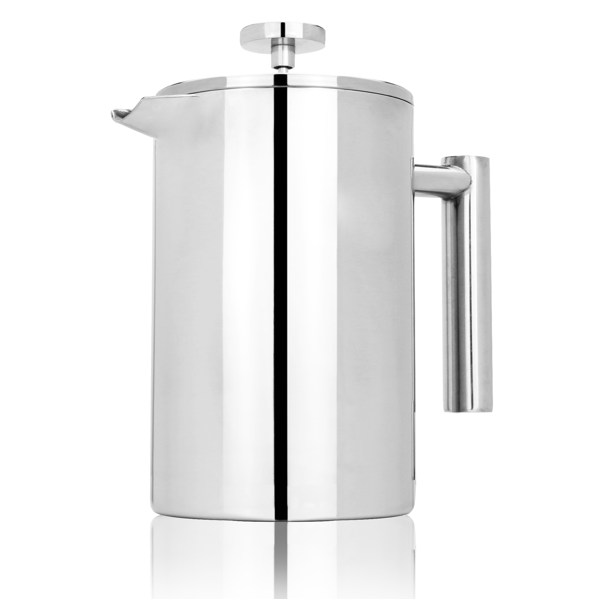 French-Press-Cafetiere-Steel-Coffee-Maker-FREE-Filters-amp-Spoons-M-amp-W miniatura 23