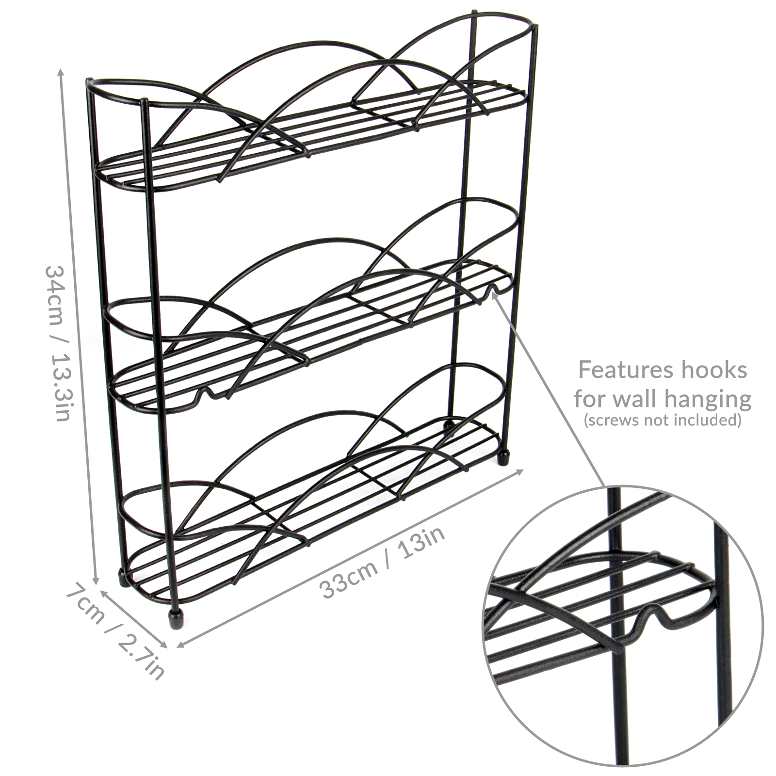 Free-Standing-3-Tier-Herb-amp-Spice-Rack-Non-slip-Universal-Fit-M-amp-W thumbnail 15