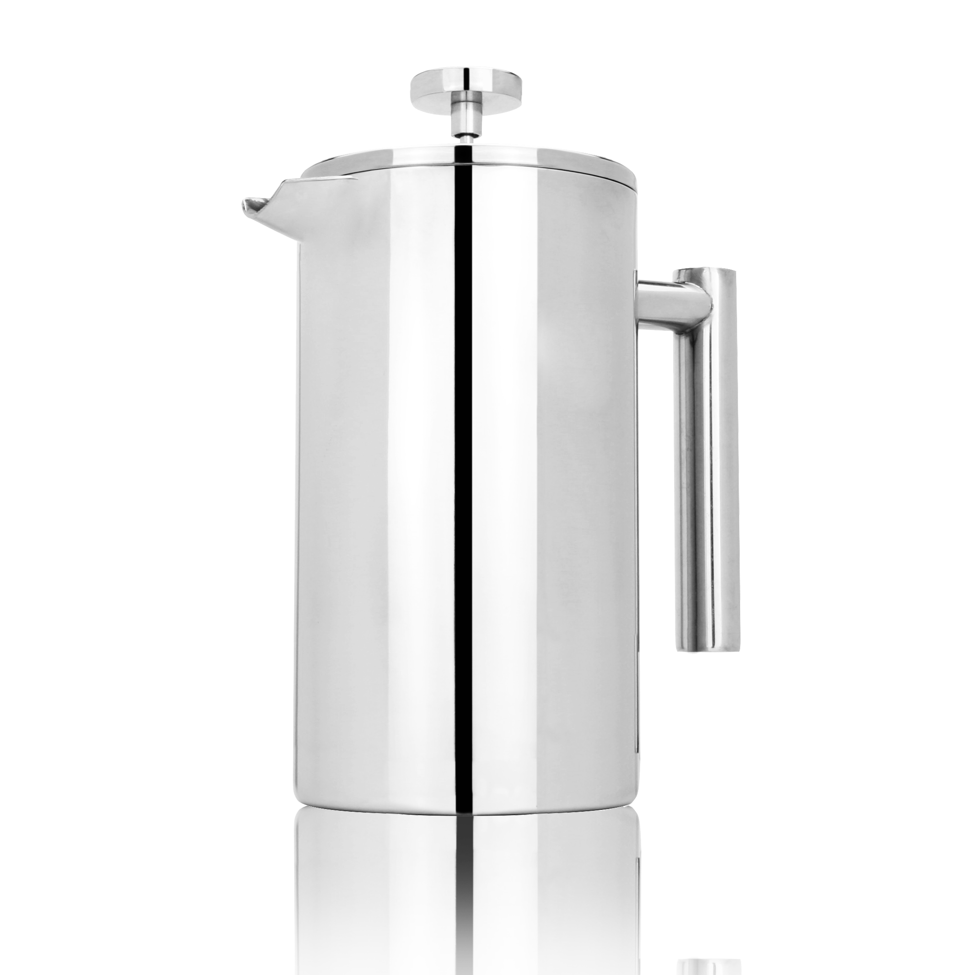 French-Press-Cafetiere-Steel-Coffee-Maker-FREE-Filters-amp-Spoons-M-amp-W miniatuur 13