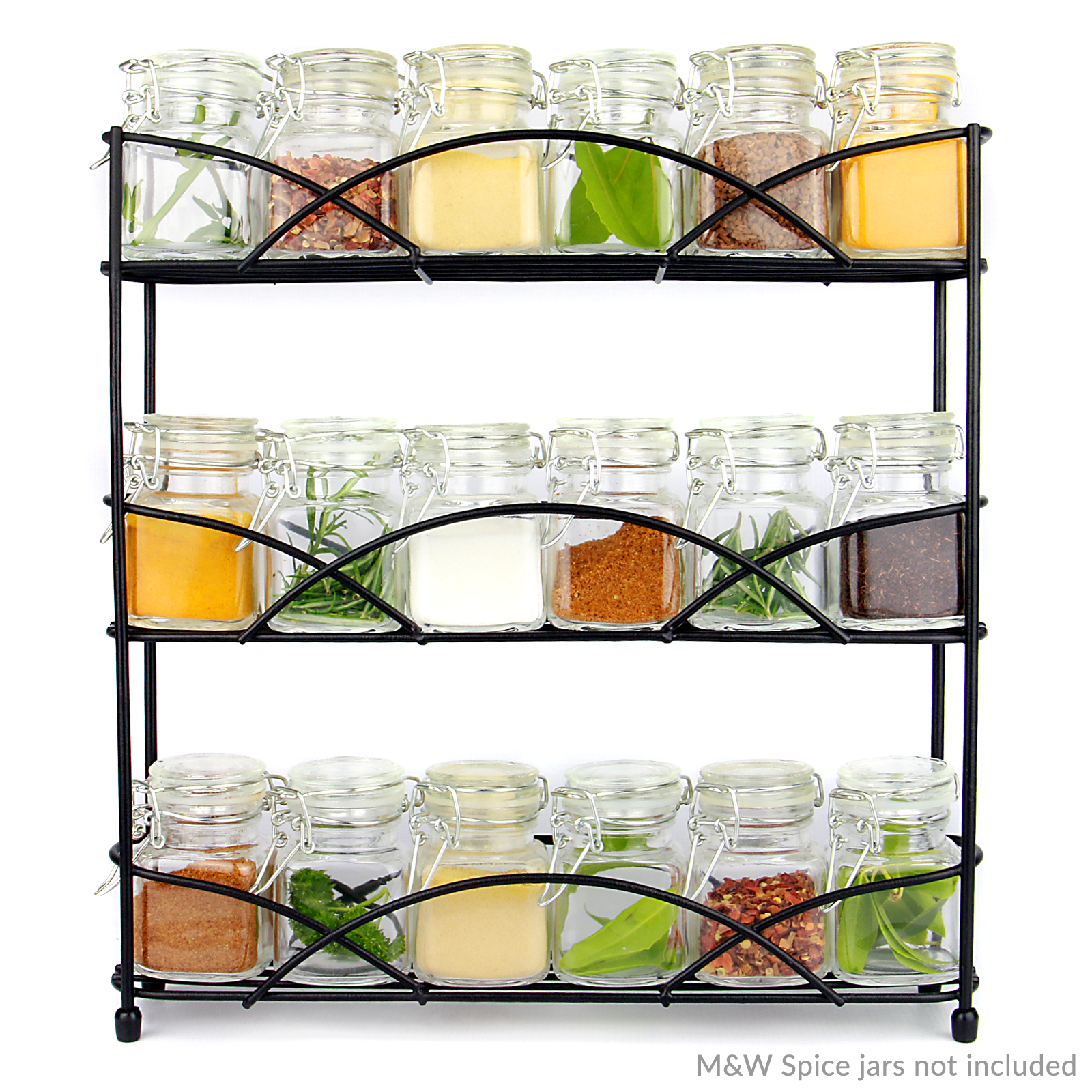 Free-Standing-3-Tier-Herb-amp-Spice-Rack-Non-slip-Universal-Fit-M-amp-W thumbnail 13