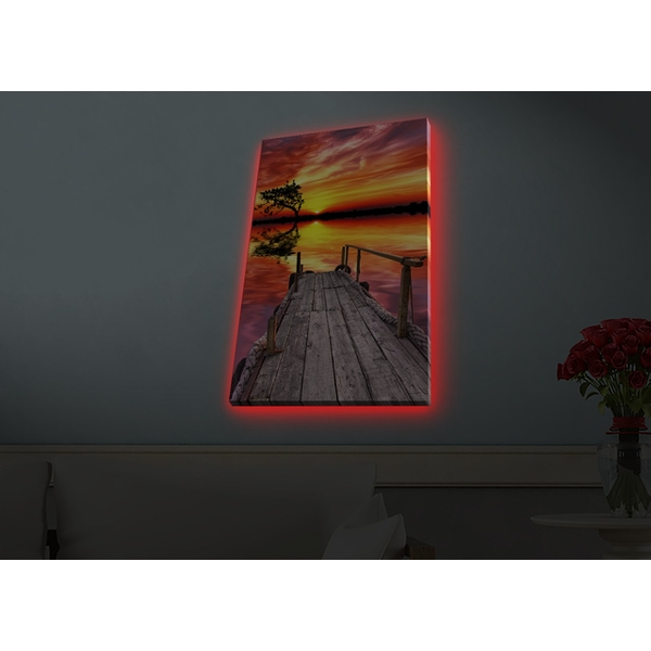 4570HDACT-071 Multicolor Decorative Led Lighted Canvas Painting