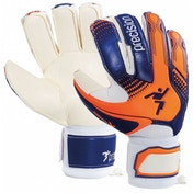 Precision Junior Fusion-X Trainer GK Gloves Size 5 (Blue/Orange/White)