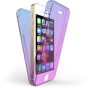 Apple iPhone 5 / 5S / SE Full Body 360 TPU Gel Case - Blue / Purple