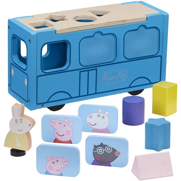 Peppa's Wood Play School Bus Shape Sorter