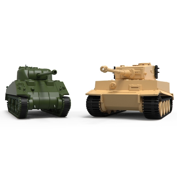 Airfix Classic Conflict Tiger 1/Sherman Firefly Model Kit
