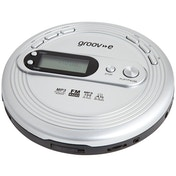 Groov-e GVPS210 Retro Series Personal CD Player with Radio Silver