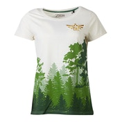Nintendo - Hyrule Forrest Women's Large T-Shirt - Multi-Colour