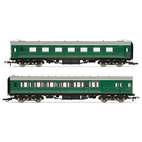 Hornby BR (Ex-Maunsell) Pull/Push Coach Pack Set 601 Era 5 Model Train