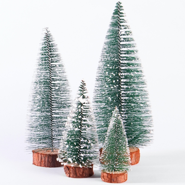 Miniature Christmas Tree Ornaments - Set of 4 | M&W