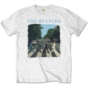 The Beatles - Abbey Road & Logo Men's Medium T-Shirt - White