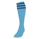 Precision 3 Stripe Football Socks Boys Sky/Navy