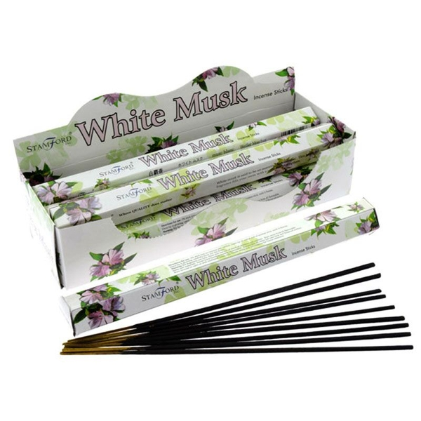 White Musk (Pack Of 6) Stamford Hex Incense Sticks
