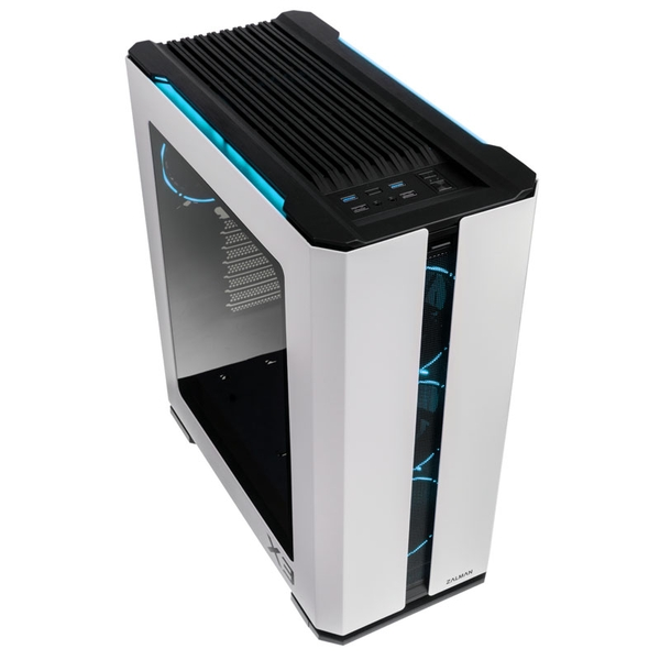 Zalman X3 ARGB Mid-Tower Case - White Tempered Glass