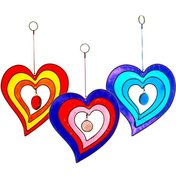 Hanging heart Suncatcher Pack Of 12