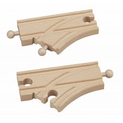 Wooden Railway Short Curved Switch Track