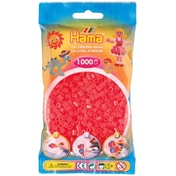 Hama - 1000 Beads in Bag (Neon Red)