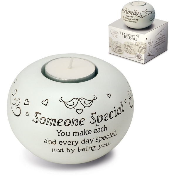 Said with Sentiment Tea Light Holders Someone Special