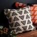 Sass & Belle Triangles Block Print Cushion - Image 3