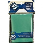Fantasy Flight Supply 50 Green Sleeves Standard Card Game Size	(10 Packs)