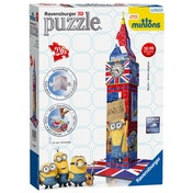 Minions Movie Big Ben Building 3D 216 Piece Jigsaw Puzzle