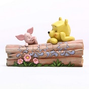 Pooh And Piglet On A Log (Winnie The Pooh) Disney Traditions Figurine