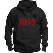 KISS - Slashed Logo Men's Small Pullover Hoodie - Black