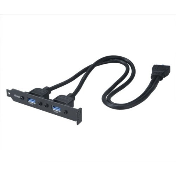 Image of Akasa USB 3.0 Internal Adapter Cable with PCI bracket