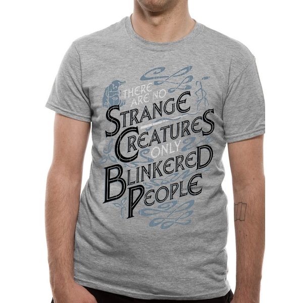 Crimes Of Grindelwald - Strange Creatures Men's Small T-Shirt - Grey