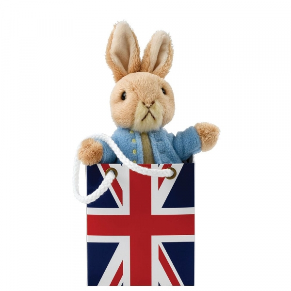 Peter Rabbit Soft Toy in Union Jack Bag