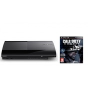 500GB SUPER SLIM Console System Black PS3 & Call Of Duty Ghosts Game With Free Fall DLC