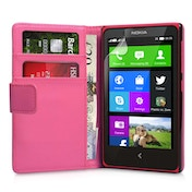 Yousave Nokia X Leather-Effect Wallet Case - Hot Pink