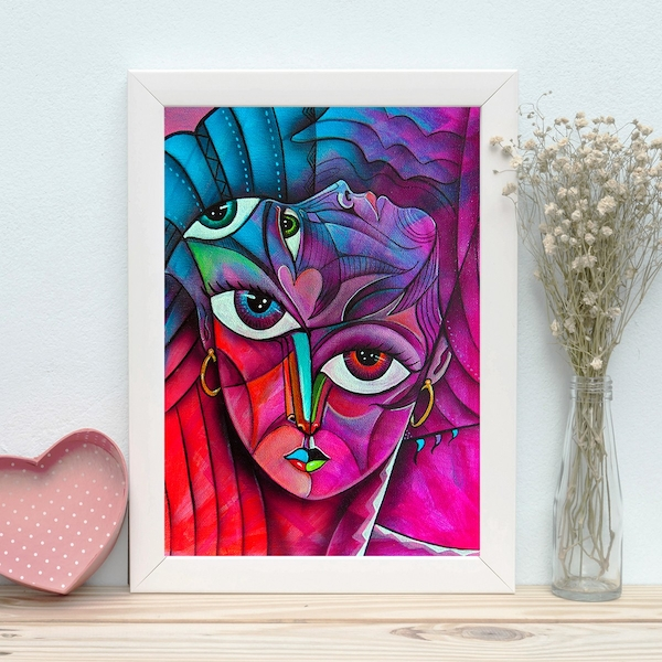 BC1535374712 Multicolor Decorative Framed MDF Painting
