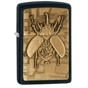 Zippo Steampunk Beetle Black Matte Finish Windproof Lighter