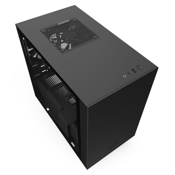 Image of NZXT H210 Mini-ITX Gaming Case - Black Tempered Glass