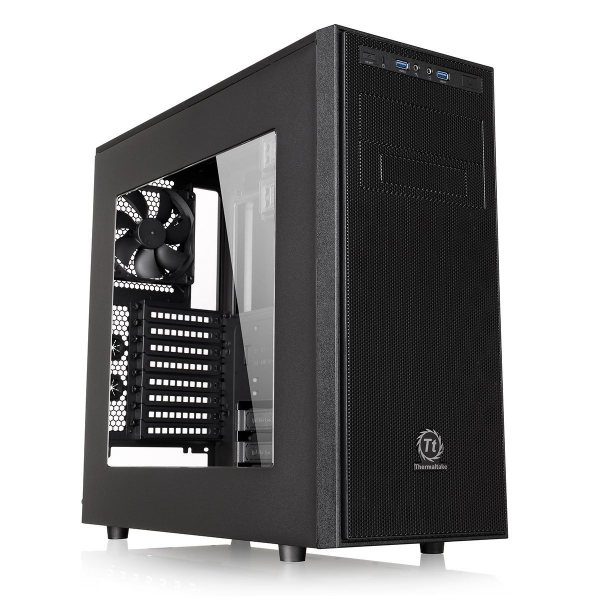 Thermaltake Versa H34 Tower Case with Side Window Black