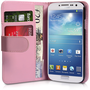 YouSave Accessories Samsung Galaxy S4 Leather Effect Wallet - Baby Pink