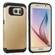 Caseflex Samsung Galaxy S6 Tough Armor Case - Champage Gold