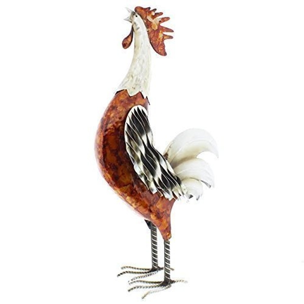 Country Living Hand Painted Metal Cockerel