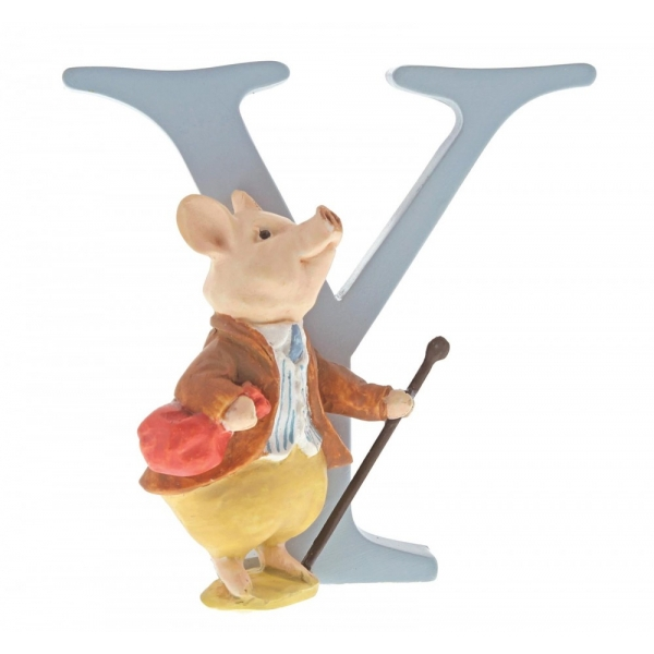 Letter Y Pigling Bland Figurine