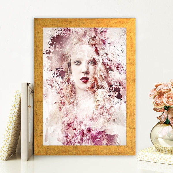 AC109664210 Multicolor Decorative Framed MDF Painting
