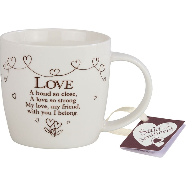 Said with Sentiment Ceramic Mug Love