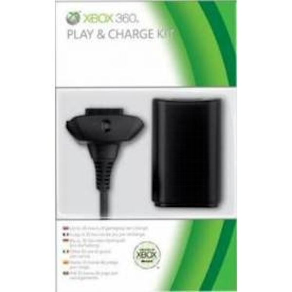 Ex-Display Elite Official Microsoft Play & Charge Kit Black Xbox 360 Used - Like New