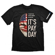 Payday 2 Mens Dallas Mask XX Large T-Shirt, Black
