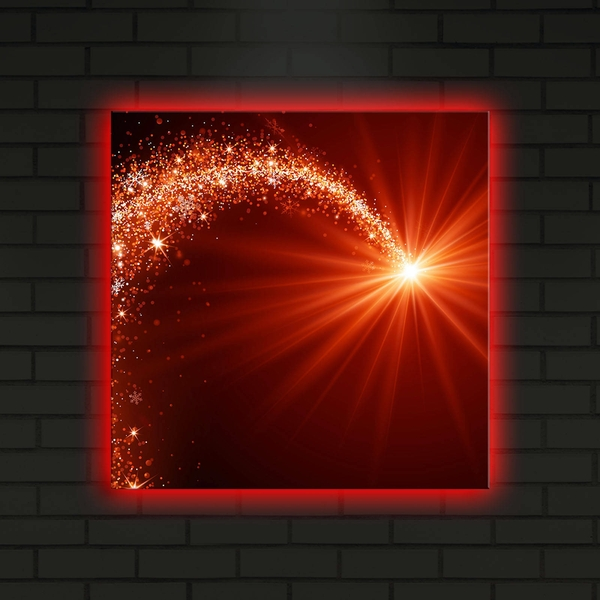 4040DACT-16 Multicolor Decorative Led Lighted Canvas Painting