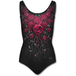 Blood Rose Women's Small Allover Scoop Back Padded Swimsuit - Black - Image 2