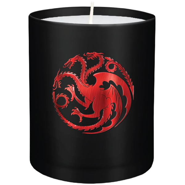 House Targaryen (Game of Thrones) Glass Candle 8 x 9 cm